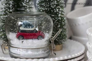 Mini Cooper Christmas Tree Snow Globe