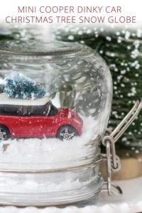 Mini Cooper Dinky Car Christmas Tree Snow Globe