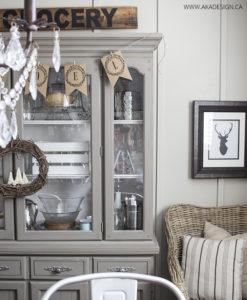 Neutral gray dining room hutch noel