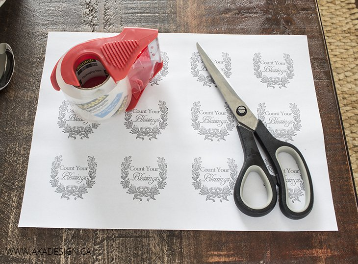 Packing tape image transfer supplies