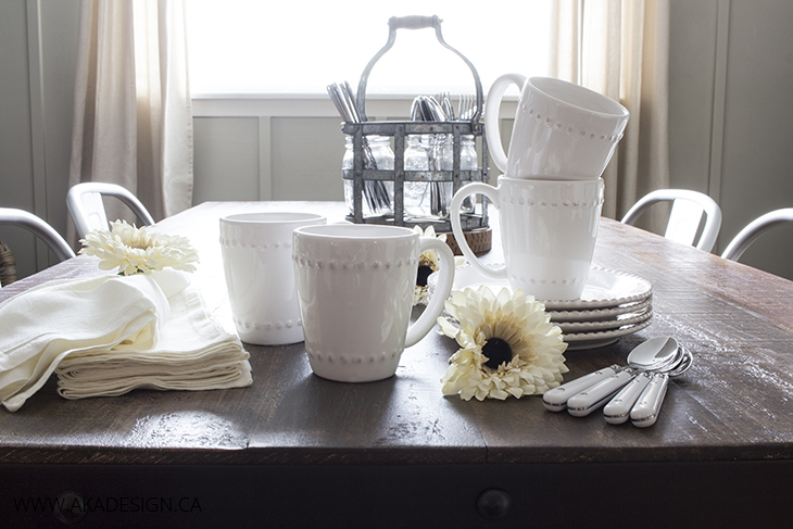 White mugs before temporary image cling