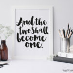 and the two shall become one printable framed