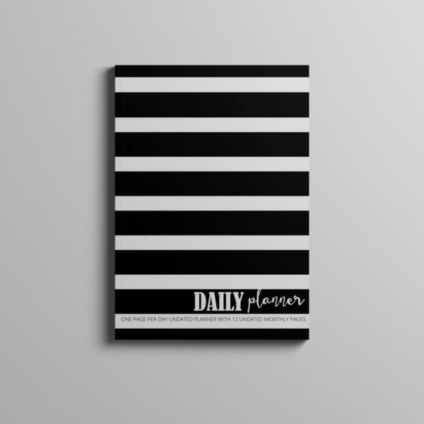 daily planner cover mockup