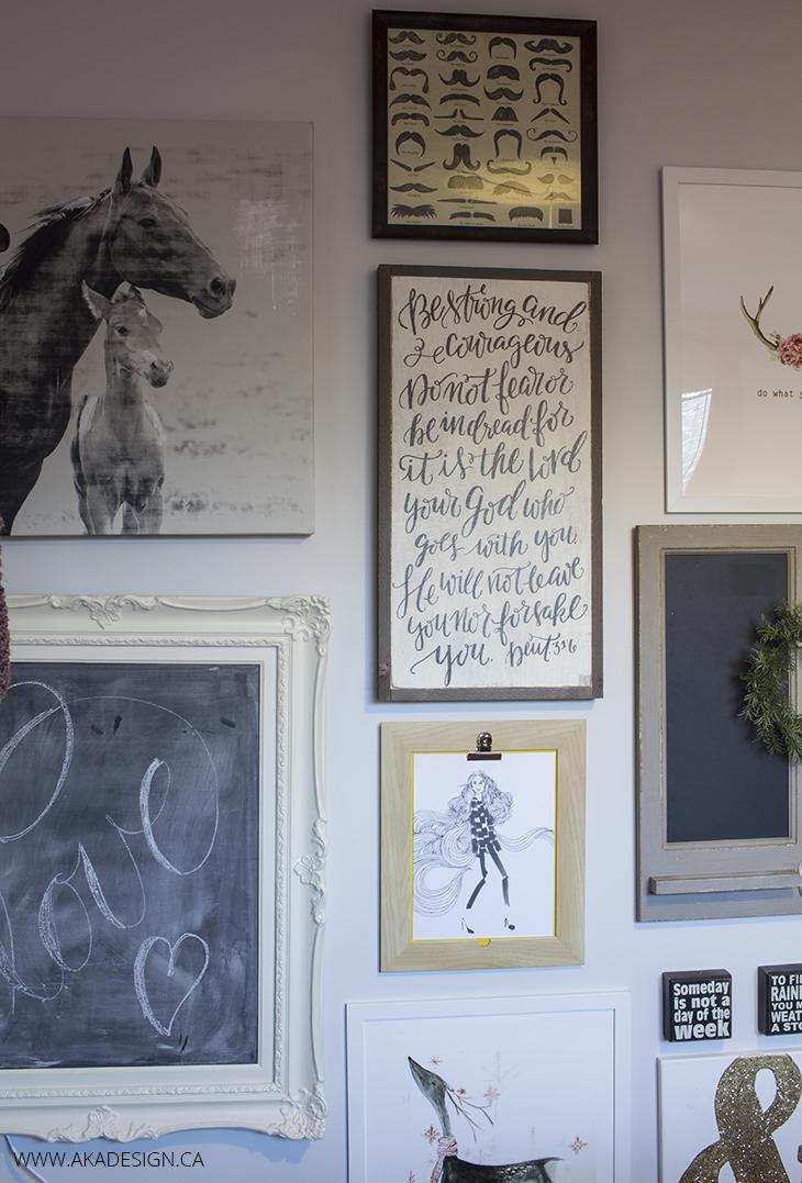 gallery wall teen room