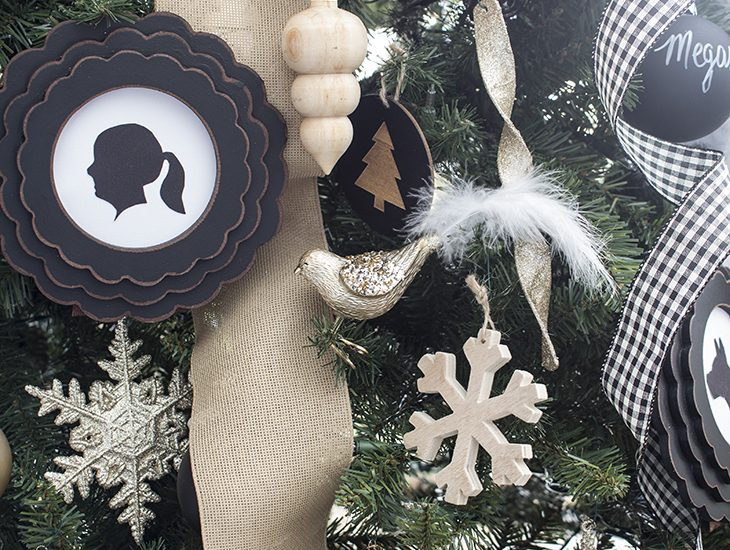 DIY silhouette ornaments
