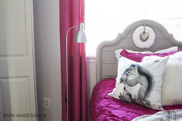grey headboard teen bedroom