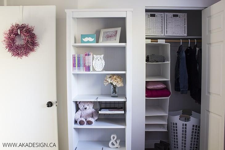 lilly's room bookshelf closet