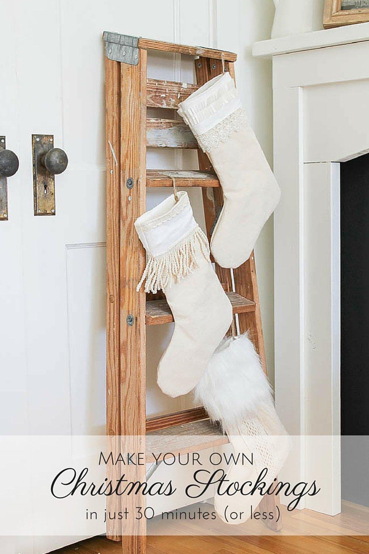 11 Diy Farmhouse Christmas Stockings To Make And Hang On