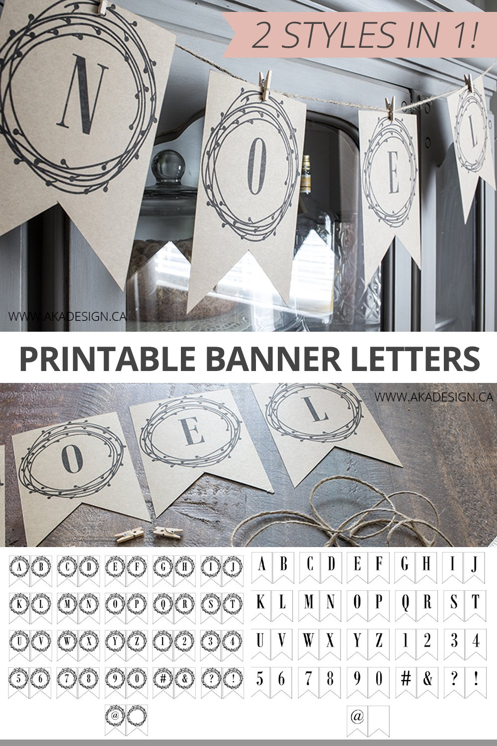 Love these because I can print them on any paper! Perfect for birthdays, Christmas and other holidays. Printable banner letters for any occasion.