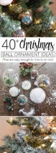 40 plus Christmas ball ornament ideas