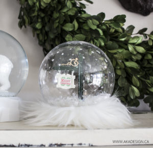 Glam Christmas Snow Globe Craft