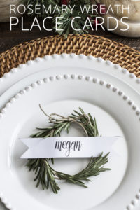 Rosemary Wreath Place Cards