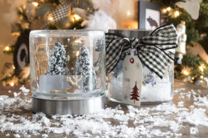 Wrap a gift card in a snow globe