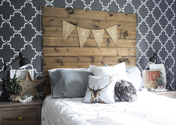aka design master bedroom christmas touches