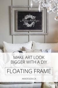 make art look bigger with a diy floating frame
