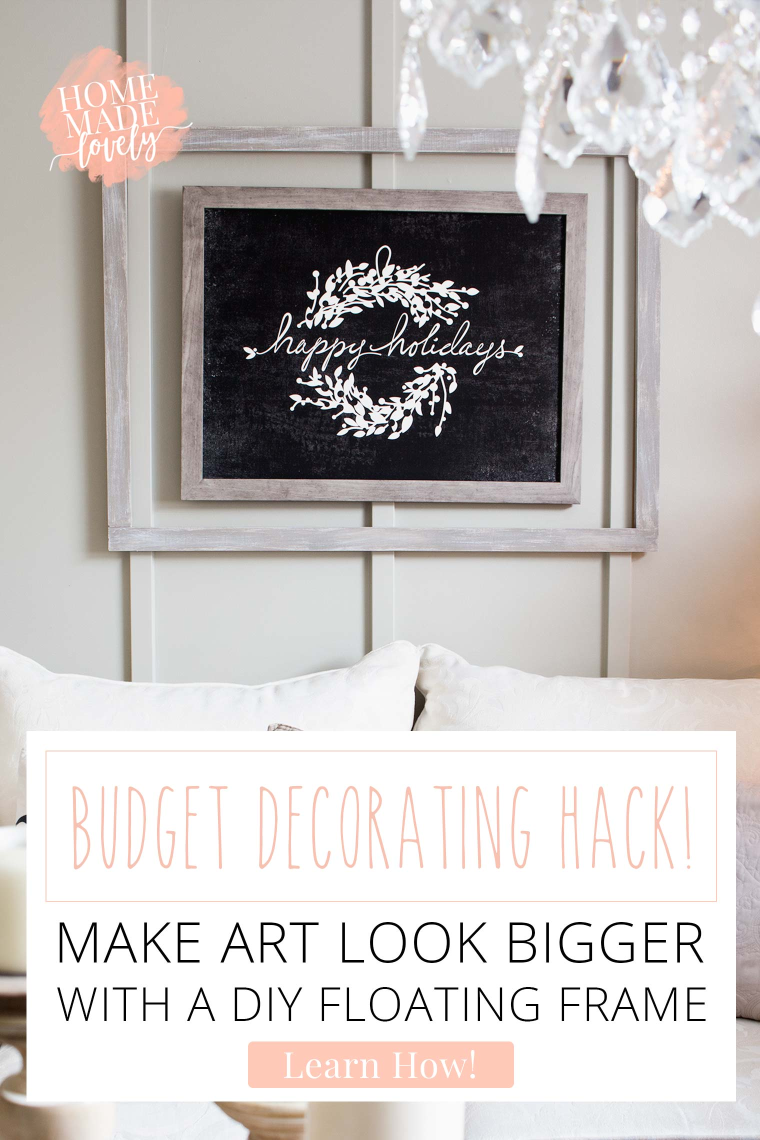 Make Art Look Bigger with a DIY Floating Frame
