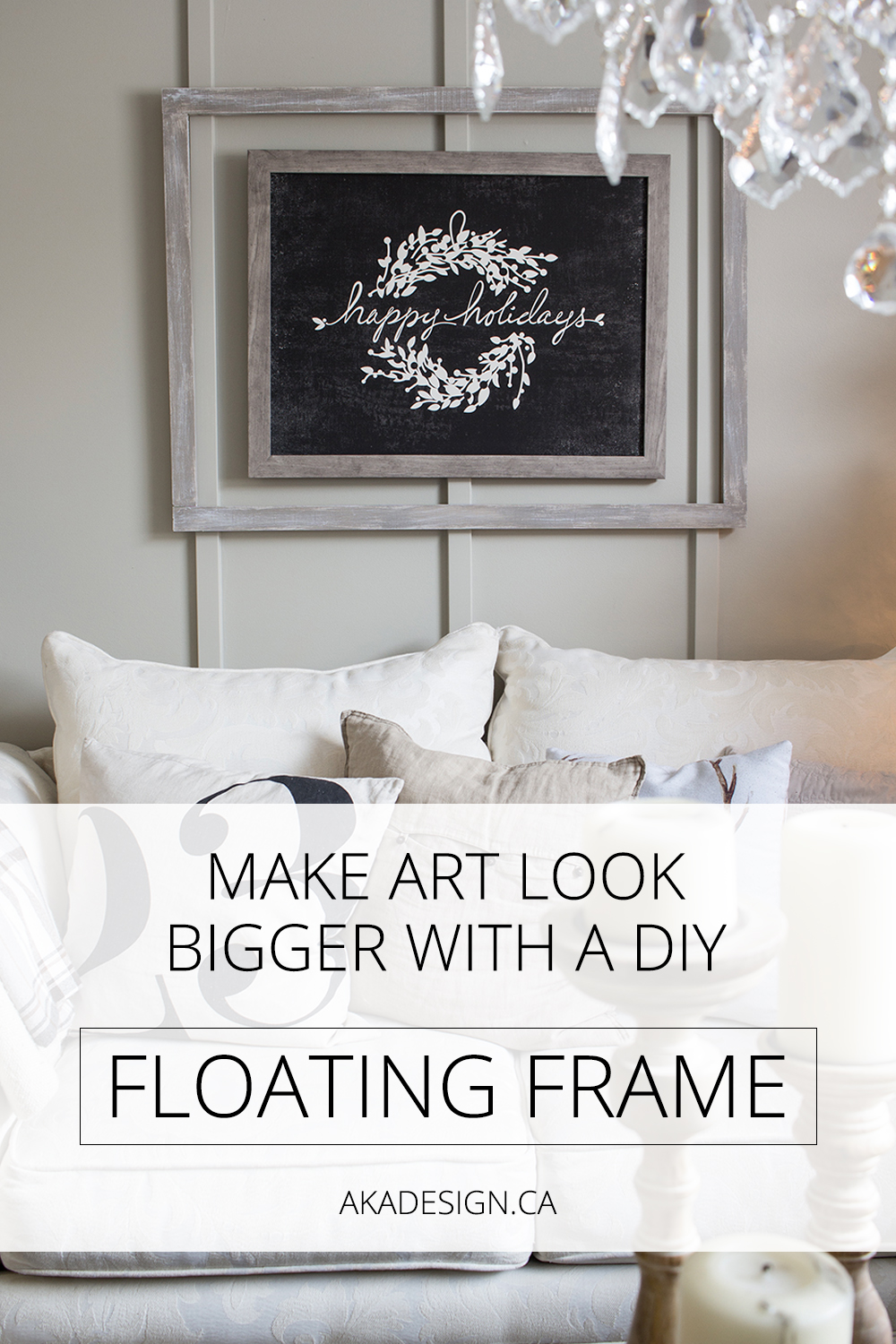 An easy way to make cheap art look like it's bigger and more impressive.