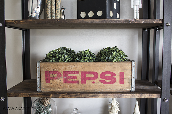 pepsi crate with greenery