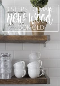 MAKE NEW WOOD LOOK OLD