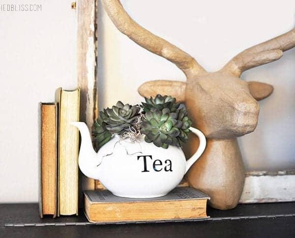 Succulent Planter Teapot