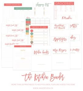 The Kitchen Binder Printables