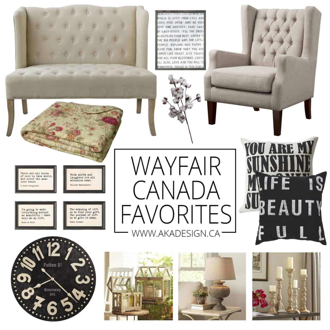 My Favorite Decorating Pieces & Wayfair Canada Launches!