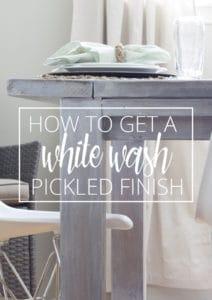 white wash pickled finish
