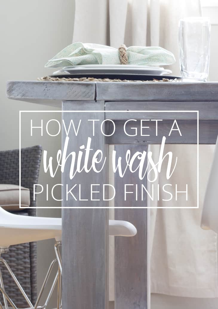 WHITE WASH PICKLING FINISH