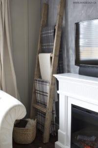 $25 diy blanket ladder