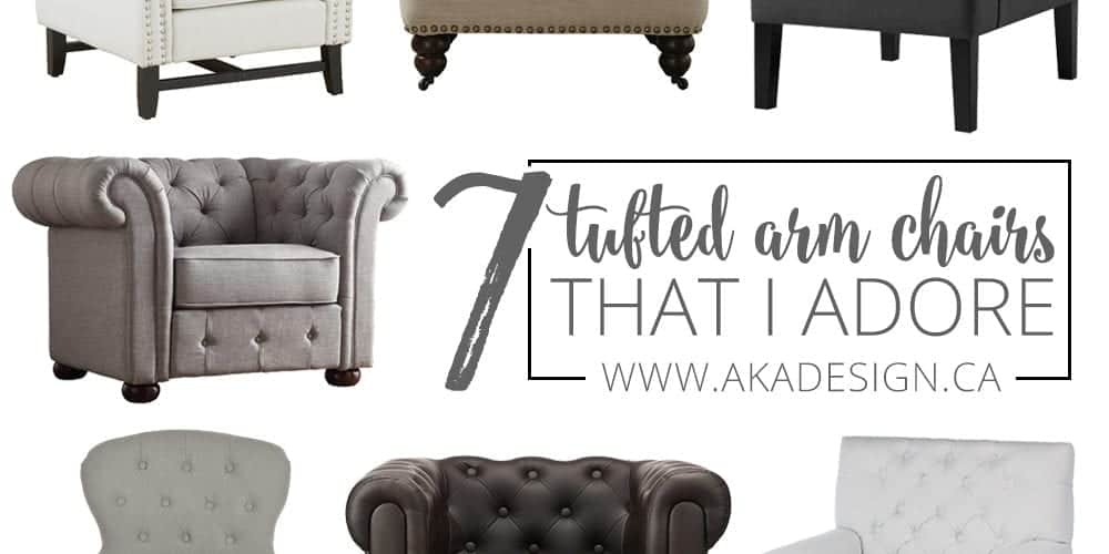 7 Button Tufted Arm Chairs I Adore