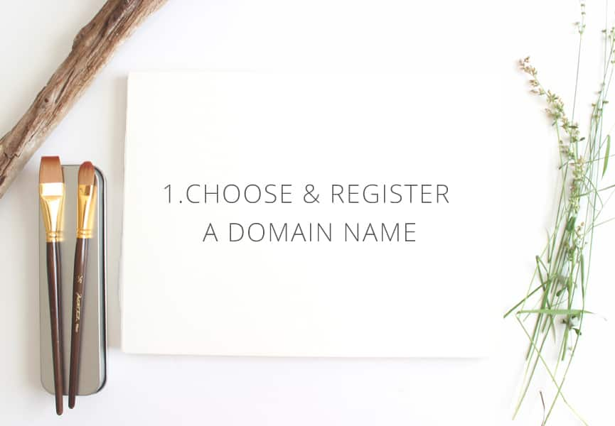 Choose and register a domain name