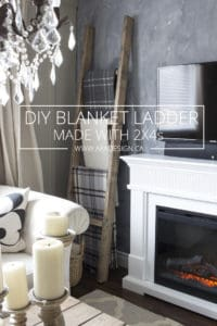 DIY BLANKET LADDER MADE WITH 2X4s