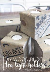 DIY wood block tea light holders AKA Design