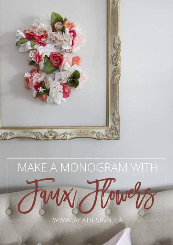 Make a Monogram From Faux Flowers and Cardboard!