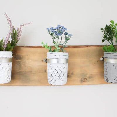 DIY Mason Jar Wall Planter