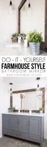 DIY FARMHOUSE STYLE MIRROR