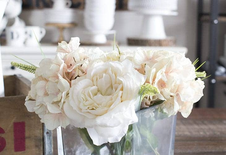 DIY Faux Floral Arrangement with Water