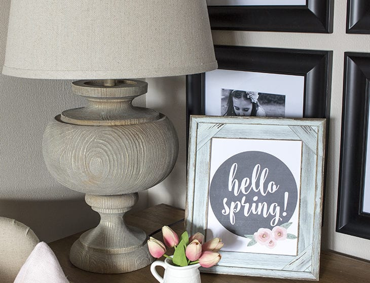 Hello Spring Printable and Vignette