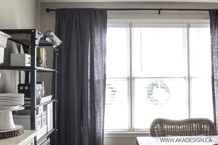 Linen drapes detail