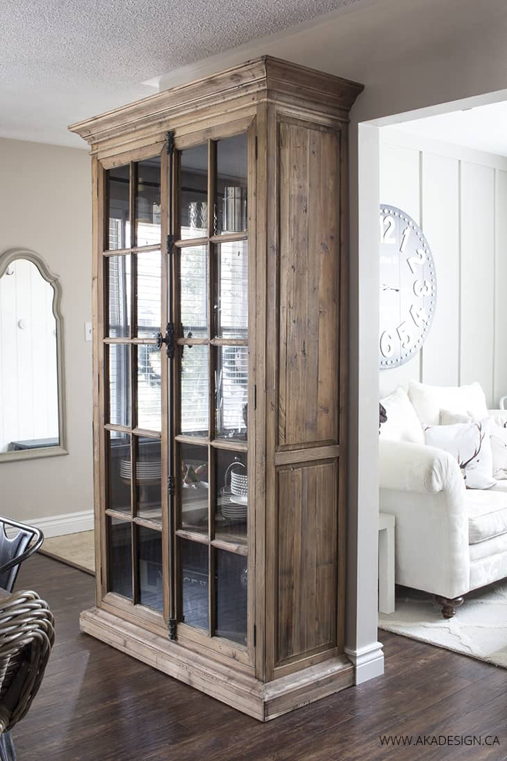 Mallory Vitrine Standard Bookcase in the dining room