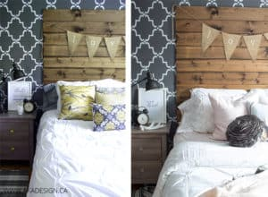 Master Bedroom Refresh Before and After
