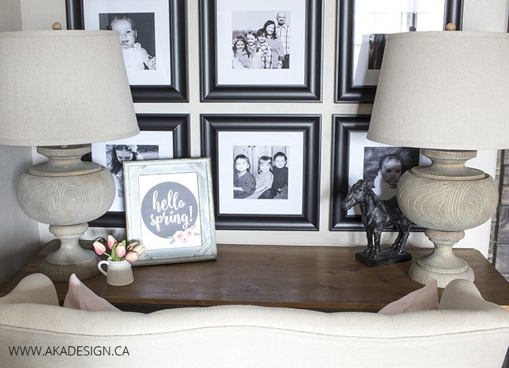 Rustic farmhouse desk area