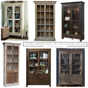 Using bookcases in the dining room
