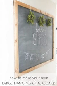 how to make your own large hanging chalkboard