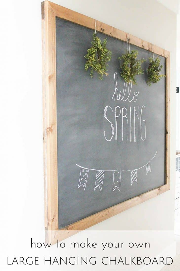 DIY Large Hanging Chalkboard