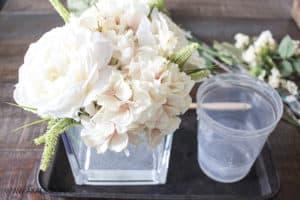 rearrange flowers in quick water