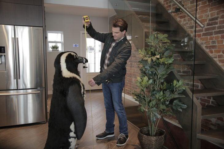 Scott McGillivray and a Penguin