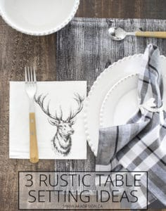 3 rustic table setting ideas