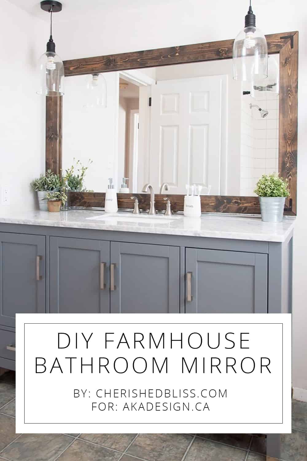 diy farmhouse bathroom mirror