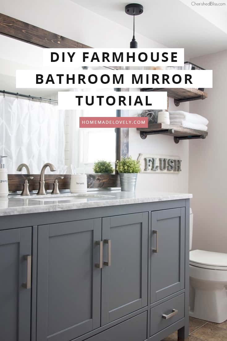 diy bathroom mirror frame hack